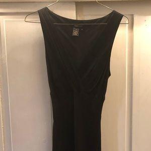 BCBG MAX AZARIA Black Silk Cocktail Dress